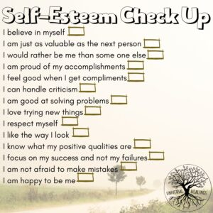 Universal Healings Self Esteem Checklist